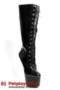 knee high pony boots black
